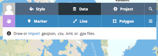 Importing markers, lines and polygons with KML, GeoJSON or